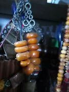14 Rare Antique Natural Moroccan Amber Beads, Amazigh Amber Jewerly Berber