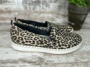 Womenand039s Clarks Cloudsteppers Step Glow Jade Leopard Print Slip On Shoes Size 8 M