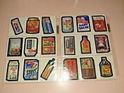 1973-5 Topps Wacky Packages Complete Set Wonder Bread Series 1-2-3 / 72/72 Minty