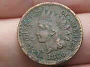 1869 Indian Head Cent Penny- Vf/xf Details Full Liberty