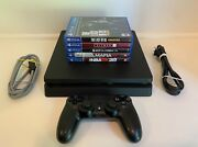 Sony Ps4 Slim 500gb Console W/ Controller The Last Of Us Hitman 2 And More