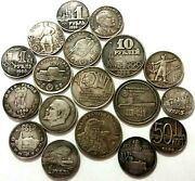 A Set Of Different Soviet Coins And Tokens Set Of Exonumia Coins 40 Pcs