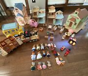 Vintage 80's Mapletown Toy Lot-appx 67 Pieces-accessories,buildings,characters