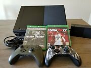 Xbox One 500gb Model 1540 Gaming Console W/2 Controllers + 2 Games Works
