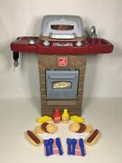 Step2 Fixin Fun Outdoor Grill W/ 26 Piece Little Tikes Backyard Bbq Play Toy Set