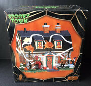 Lemax 2014 Spooky Town Village Halloween Tricked Out House Lit Building 45674
