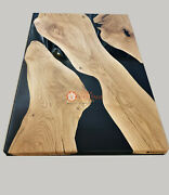 Epoxy Acacia Wood Conference Meeting Center Custom Table Top Office Decor Arts