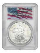 2001 Silver Eagle 1 Pcgs Gem Uncirculated 9-11-01 Wtc Ground Zero Recovery