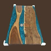 Acacia Epoxy Living Room Table Blue Resin River Tableblue Epoxy River Table Top