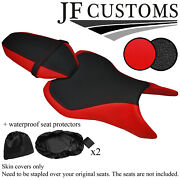 Dsg3 B Red And Grip Custom For Yamaha Mt 07 18-19 Front Rear Seat Covers+2x Wsp