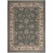 Admire Home Living Plaza Traditional Oriental Floral Scroll Green 5'5 X 7'7/su