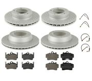 Zimmermann Front Rear Brake Rotors Pads And Sensors Kit For Porsche Boxster Cayman