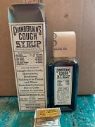 Antique Medicine Bottle Nos Chamberlainandrsquos Cough Syrup With Sample Tabletsandnbsp