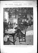 Old 1886 Family Home Boy Girl Window Seat Drawing Table Walter Besant Victorian