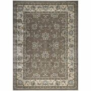 Admire Home Living Plaza Traditional Oriental Floral Scroll Brown 7'9 X 10'6/s