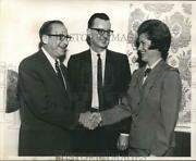 1967 Press Photo Girl Scout New Officers Chas Stich, Paul Steen And Mrs. Bisso