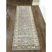 Admire Home Living Plaza Traditional Oriental Floral Scroll Bone 5'3 Round