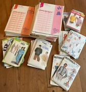 Vintage Simplicity, Butterick, Vogue, Mccalls Stretch And Sew Sewing Patterns Lot