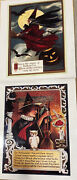Lot Of 2 Vintage Halloween Witches Poster Reproductions 15 X 17.5 Each