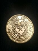 1987 State Of Texas One Troy Ounce 999 Fine Silver Round Remember The Alamo