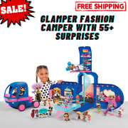 Glamper Fashion Camper Dollhouse Lol Surprise Omg 4-in-1 With 55 Surprises Blue