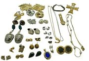 Huge Lot Costume Jewelry Mid Mod Park Lane Earrings Gold Tone Watch Necklaces