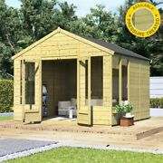 Billyoh Pressure Treated Holly Tongue And Groove Outdoor Garden Wooden Summerhouse