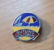 Vintage Butlins Holiday Badge Long Umbrella Numbered 27259 - Fattorini And Sons