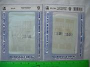 Lot Of 2 Microscale Decals 60-66 1166,pennsylvania Prr,steam Locomotives,n Scale