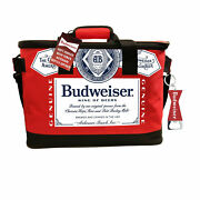 Budweiser Fabric Cooler With Bottle Opener Red