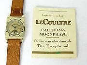 Vintage 1949 Gold Filled Lecoultre Triple Date Moon Phase 486/aw Watch B26