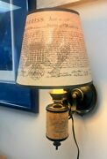 Declaration Of Independence Wall Lamp Light Sconce With Punched Eagle Shade