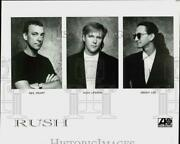 Press Photo Alex Lifeson, Geddy Lee And Neil Peart Of Rush, Music Group