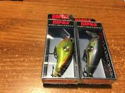 Lot Of 2 Discontinued Rapala Clackin' Crank Cnc-53 Lures Two Patterns Nips