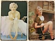 8x12 Tin Signs 2pc Set Marilyn Monroe Movie Star Ballerina Hollywood Quote Wall