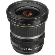 Canon Ef-s 10-22mm F/3.5-4.5 Usm Lens New In Stock