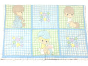 Precious Moments Vintage Baby Blanket Quilted Cover Patchwork Colorful Nursery