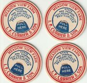 Lot Of 4 Milk Bottle Caps. Meadow View Farm. Liverpool, Ny. Dairy