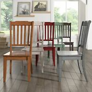 Eleanor Slat Back Wood Dining Chair Set Of 2 By Inspire Q