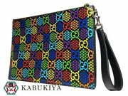 Gg Psychedelic Porch 601087 Clutch Bag Second Rainbow Multi Colored Mens