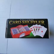 Professional Quality Manual Card Shuffler Box Is Rough But Item Never Used.