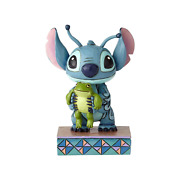 Disney Jim Shore Stitch With Frog Personality Pose Strange Life Forms Figurine
