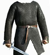 Hubergion Shirt Round Riveted With Flat Warser Chainmail Shirt 9 Mm Armour Store
