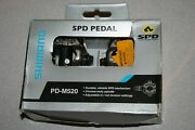 Shimano Pd-m520 Spd Pedals Cleats Included New