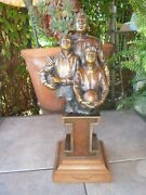 Rare Vintage G W George W Lundeen Legacy Bronze Art Signed Sculpture Statue