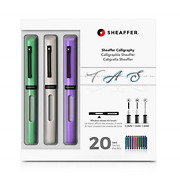 Sheaffer Calligraphy Maxi Kit With Neo-mint White And Lavender Pens And Nibs