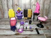 Monster High And Ever After High Furniture Accessories Lot O