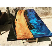 Ocean Garden Resort Decorative Furniture Resin River Epoxy Table Made To Order