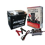 Numax Nts5lbs Yamaha Wr250f Wr250 F Motorcycle Battery With Charger Maintainer