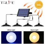 Four Head Solar Light Outdoor Lamp With Line Warm White Lighting For Camping